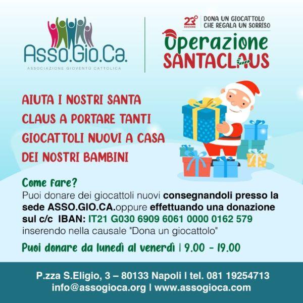 """Piazza Mercato, operazione """"Santa Claus"""": 400 giocattoli per i bambini più bisognosi"""