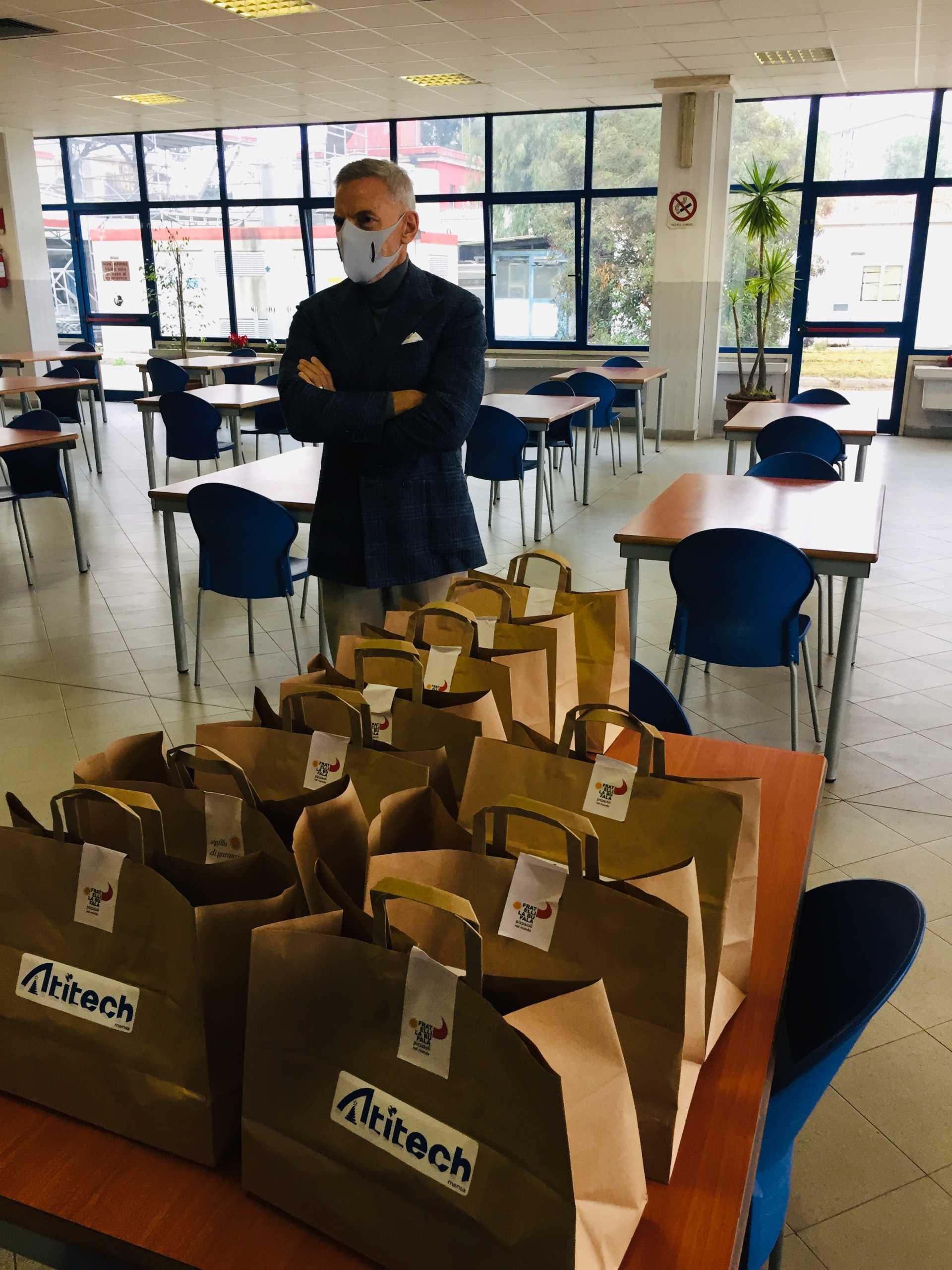 Atitech per il sociale, 1500 pasti nei quartieri disagiati