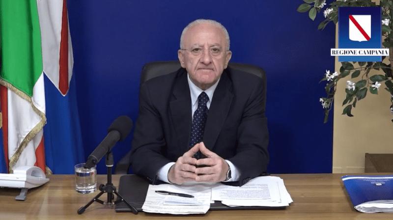 """Covid 19 in Campania, De Luca sull'aumento dei contagi: """"Servono misure efficaci del Governo"""" (VIDEO)"""