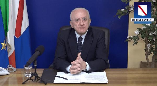 """Covid 19, De Luca: """"Probabilmente la Campania sarà zona arancione"""" (VIDEO)"""