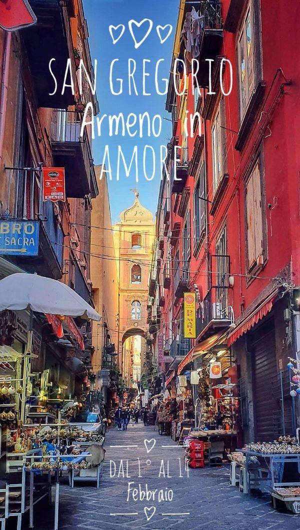 San Valentino 2021 a Napoli: ecco San Gregorio Armeno in Amore a 360 gradi