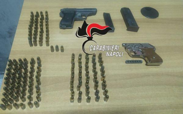 Arzano, controlli dei Carabinieri: sequestro di armi e munizioni