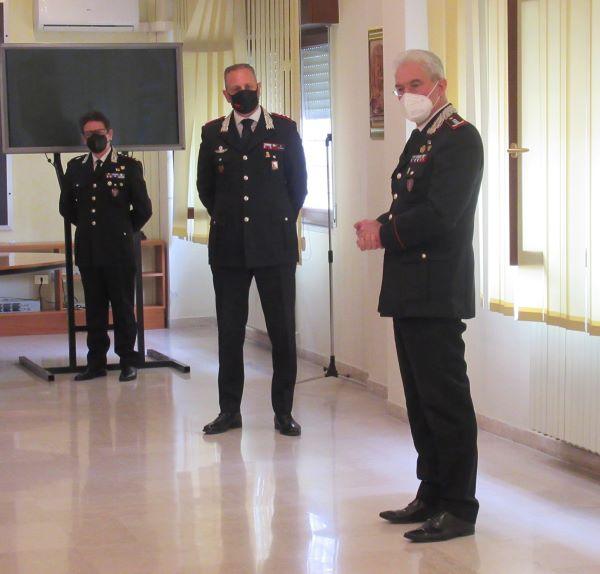 Benevento: il Comandante Maurizio Detalmo Mezzavilla visita il comando dei Carabinieri