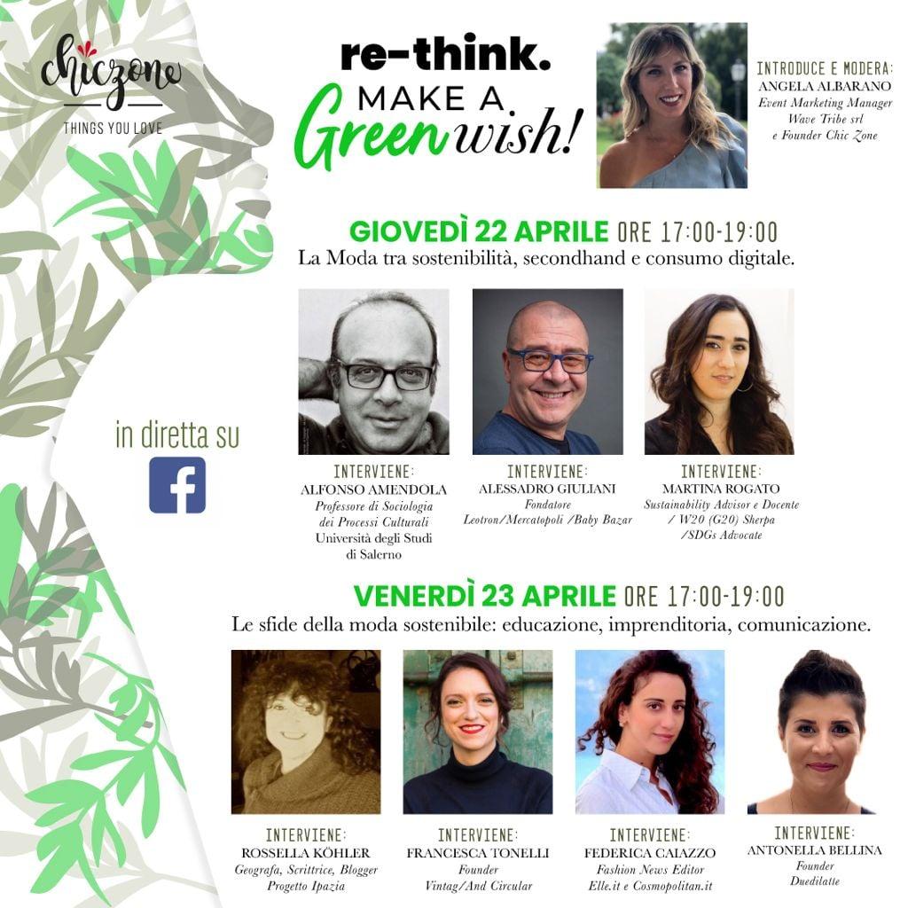 Evento in streaming per discutere di moda e sostenibilità, secondhand e consumo digitale