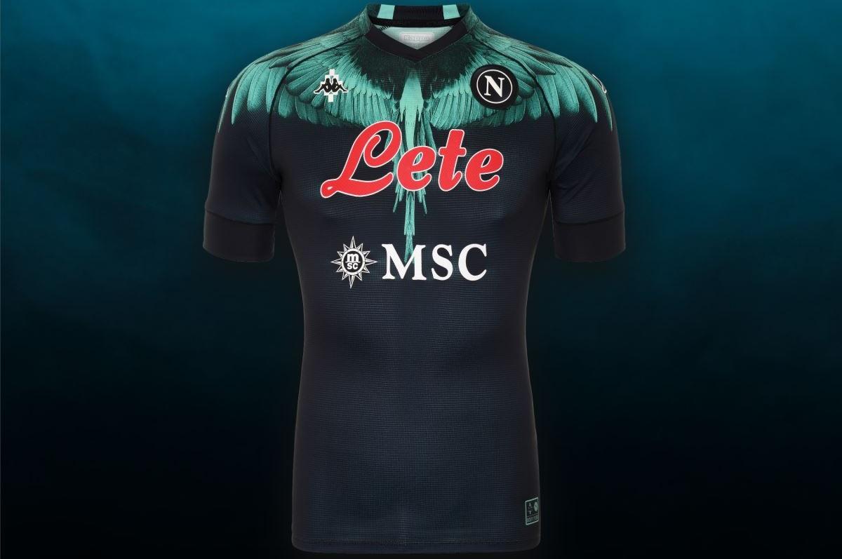 Calcio Napoli, la nuova maglia disegnata da Marcelo Burlon