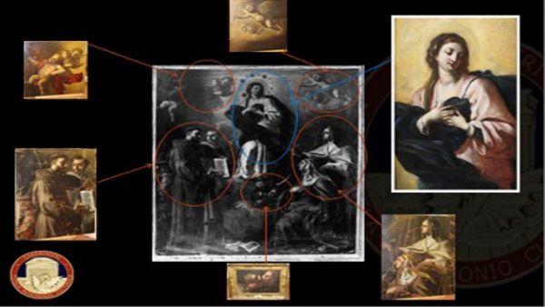 Montesarchio: Carabinieri restituiscono al Comune sei parti di un dipinto tagliato