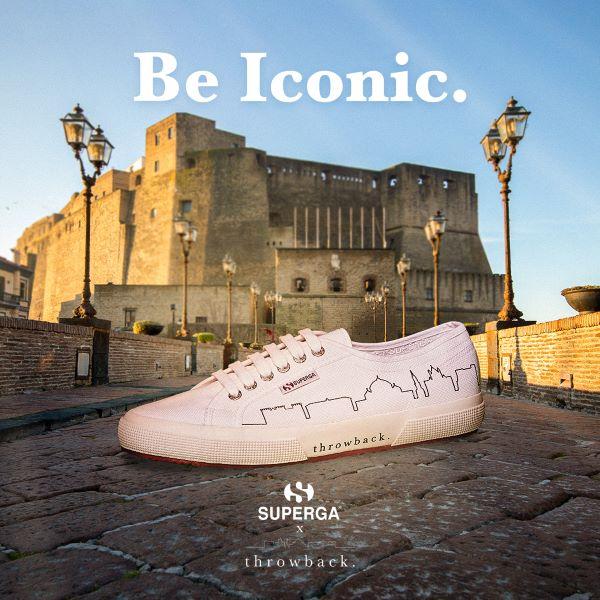 Throwback, nuova partnership: i monumenti di Napoli sulle mitiche scarpe Superga