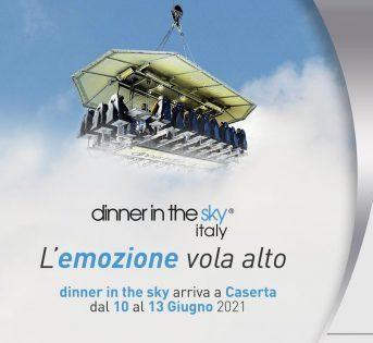 Dinner in the Sky arriva a Caserta dal 10 al 13 giugno