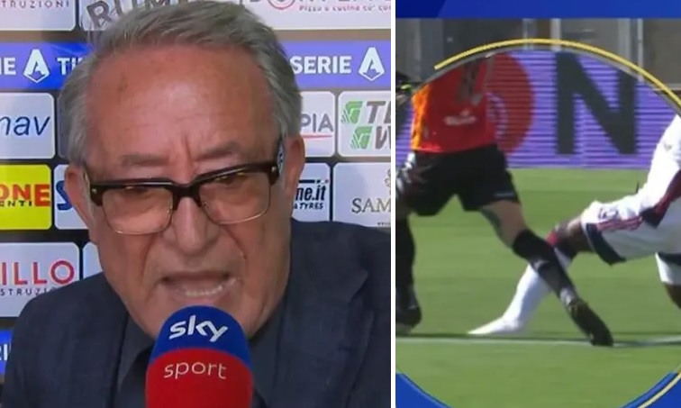 Benevento-Cagliari, Vigorito contro l'arbitro Mazzoleni