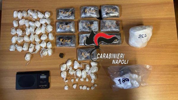 Napoli e Ischia: due arresti per traffico di droga e sequestri per 120mila euro