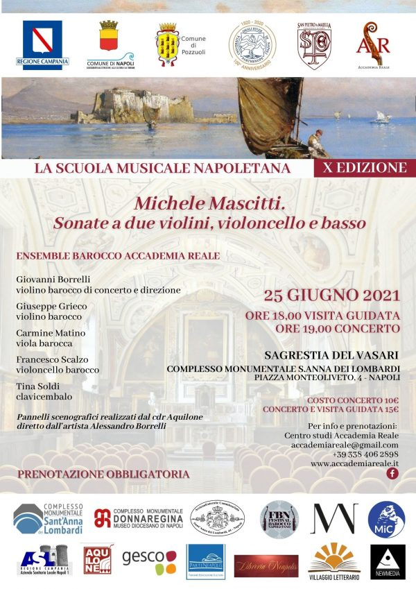 """""""La Scuola Musicale Napoletana"""" in concerto nella Sala Vasari di Sant'Anna dei Lombardi"""