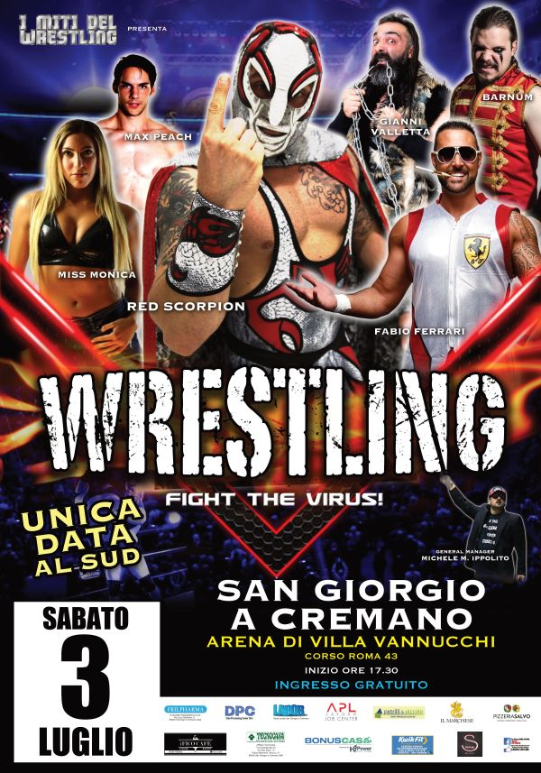 San Giorgio a Cremano: ecco I Miti del Wrestling – Fight the Virus!