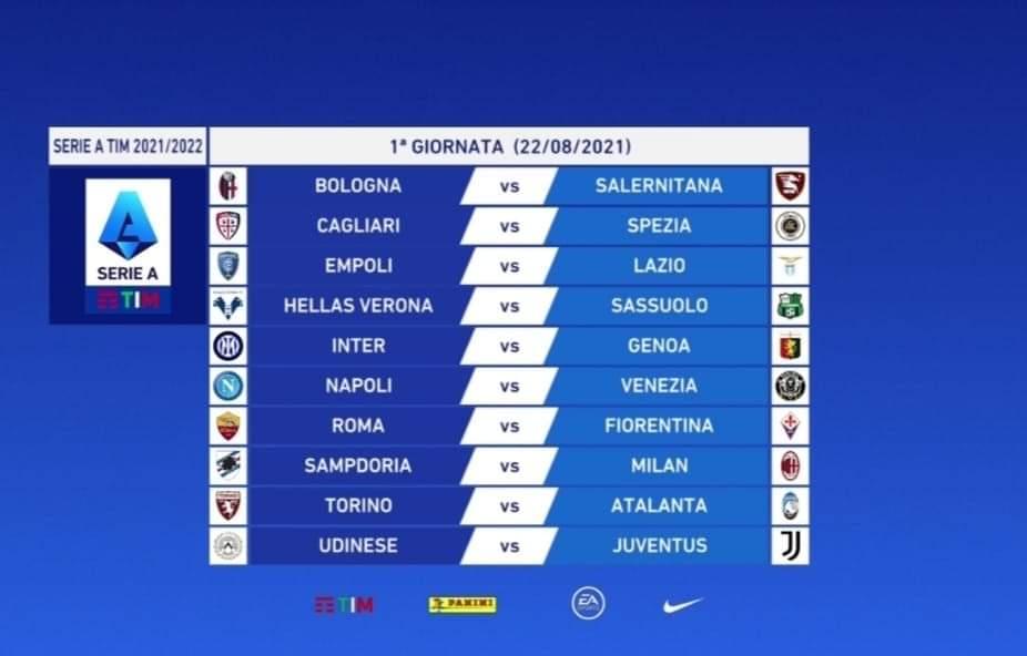 Calendario Serie A: Napoli-Juventus al Maradona il 12 settembre dopo la sosta per la Nazionale