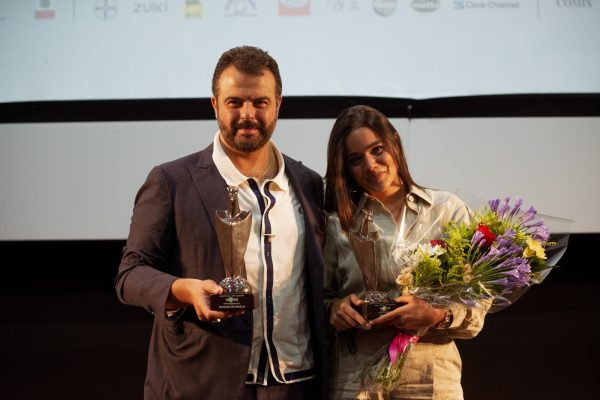 Edoardo De Angelis e Pina Turco con i jurors di #Giffoni50Plus
