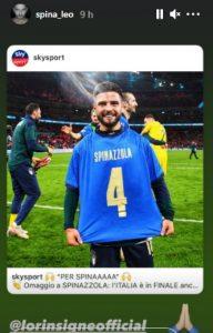 Euro 2020, Insigne dedica vittoria dell'Italia a Spinazzola