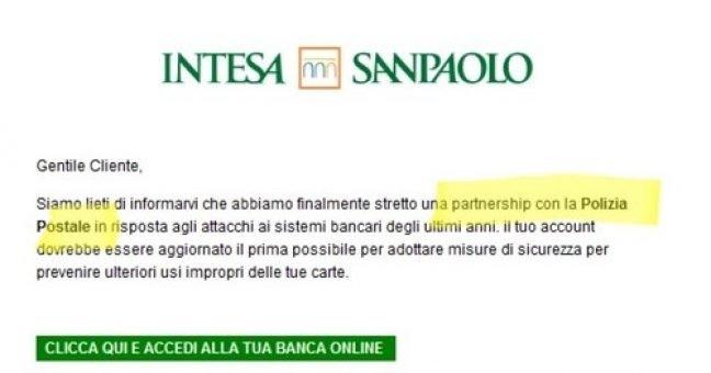 Mail Intesa Sanpaolo cita la Postale: è una truffa
