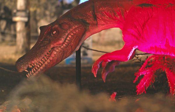 Living Dinosaurs alla Mostra d'Oltremare anche in notturna tra mille effetti di luce