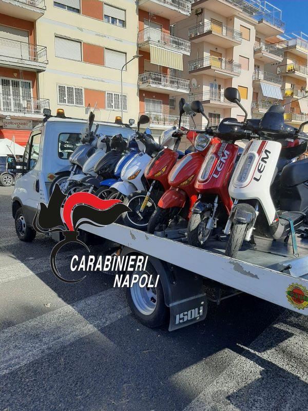 Torre del Greco, bici elettriche modificate: dieci quelle sequestrate dai Carabinieri