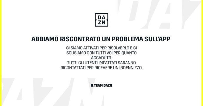 Dazn annuncia un risarcimento per tilt durante Samp-Napoli