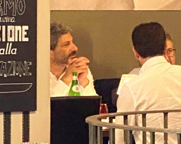 Il Presidente Roberto Fico a Napoli a pranzo da Ieri, Oggi, Domani
