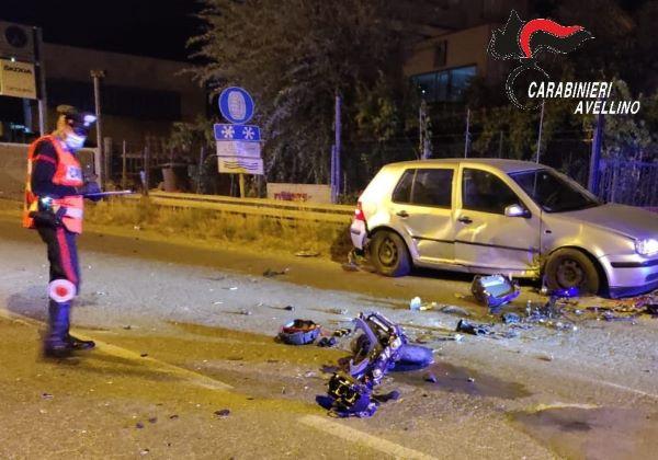 Ariano Irpino, incidente stradale sulla SS90: morto motociclista 25enne