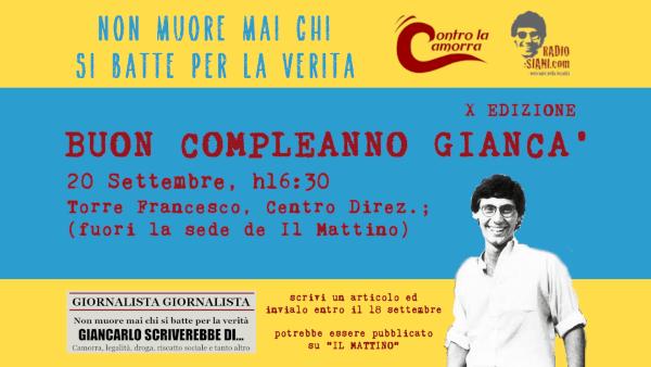 Giancarlo Siani: festa e contest per ricordare il giornalista ucciso dalla Camorra