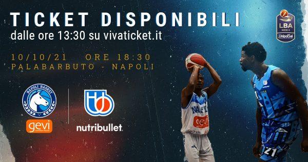 Gevi Napoli Basket-Nutribullett Treviso, parte la vendita dei biglietti